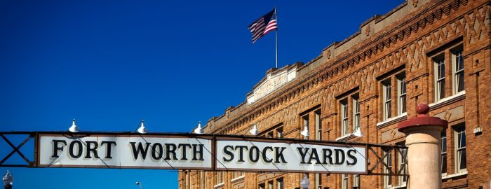 Stock yards in Fort Worth.