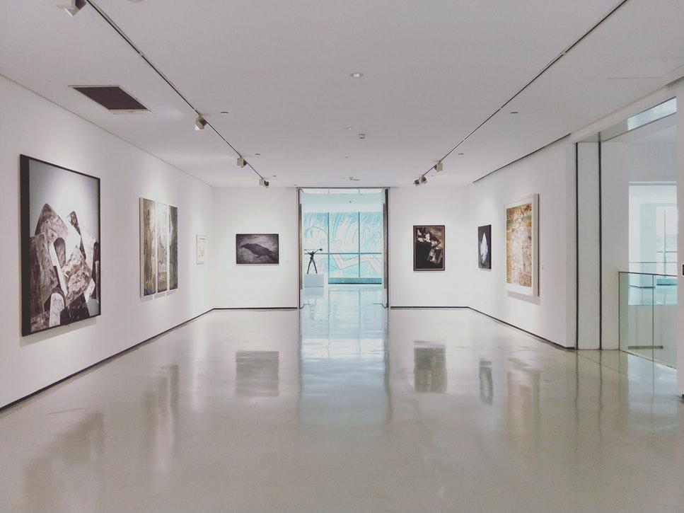 A modern art gallery.