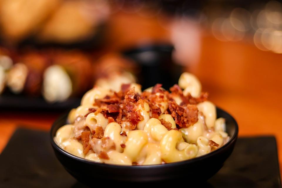 Mac & cheese comfort foods.