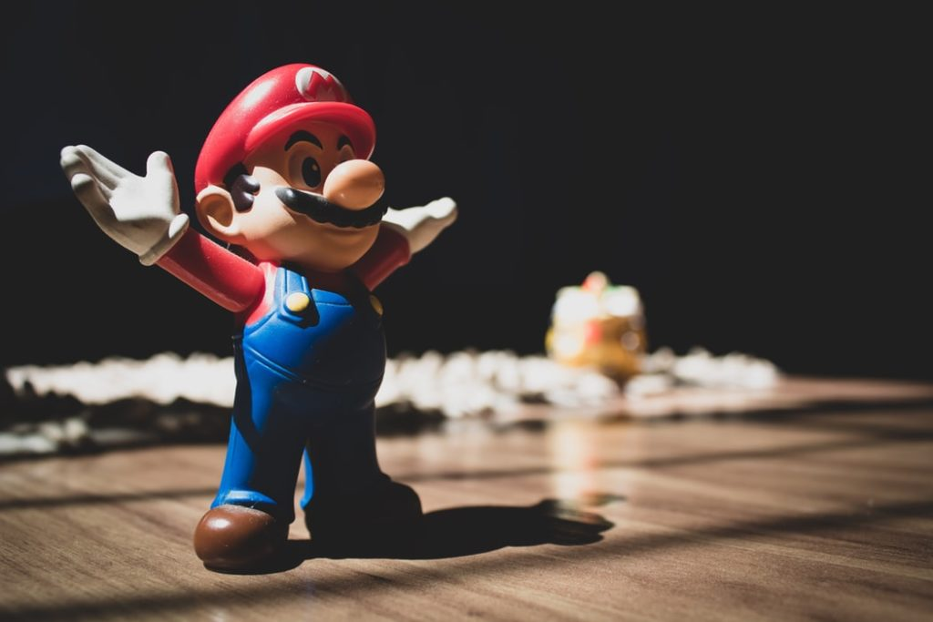 Mario from Super Mario Brothers figurine at the National Video Game Museum.