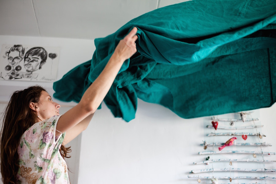 Woman cleaning for real estate resolutions